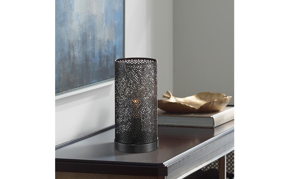 Amazon.com: Hamilton - Lámpara de metal de malla de bronce ...