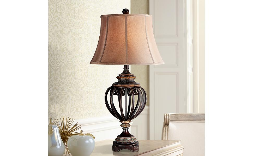 Open Iron Scroll 36 Quot High Urn Table Lamp Amazon Com