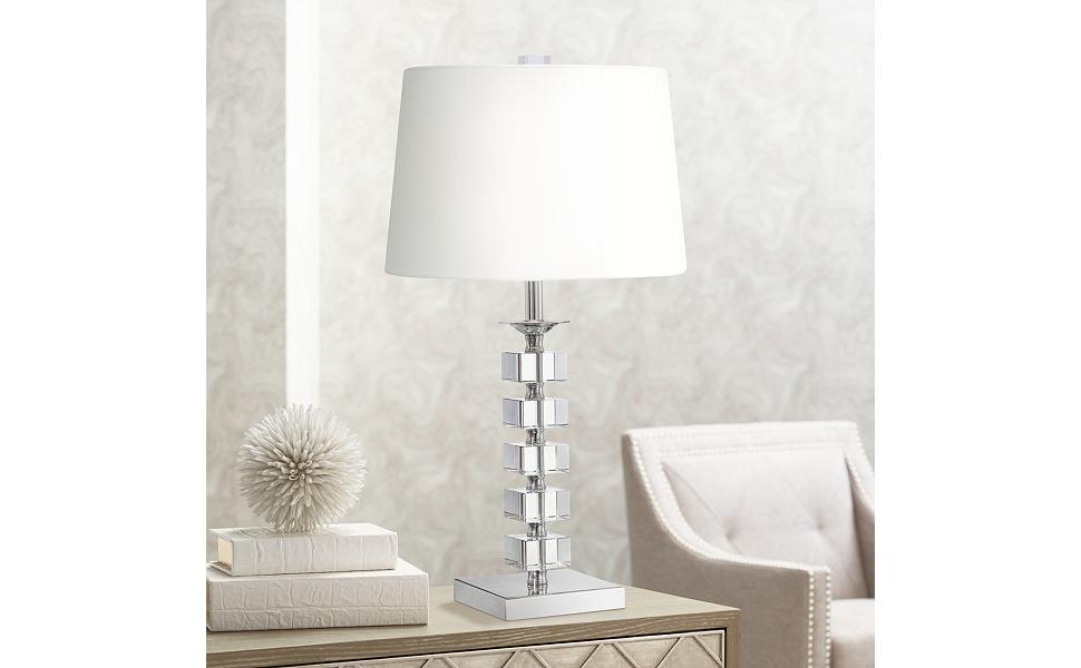 Stacked Cubes Crystal Table Lamp By Vienna Full Spectrum Amazon Com