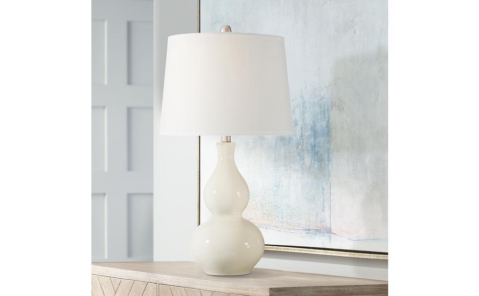 Fergie Cream Ceramic Table Lamp Amazon Com