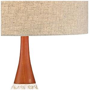 "Rocco 30"" High Mid-Century Modern White Ceramic Table Lamp"