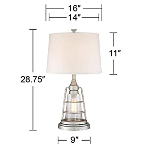 Fisher Nautical Table Lamp with Nightlight Antique LED ...