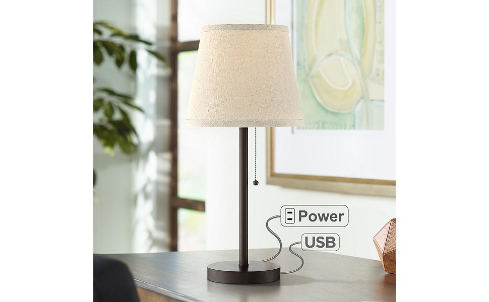 Flesner Bronze 20 High Accent Table Lamp With Usb Port Amazon Com