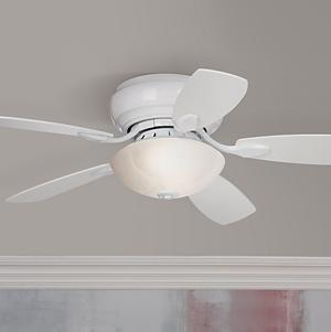 44 casa habitat white finish hugger ceiling fan hugger ceiling the casa habitat hugger style ceiling fan is perfect for smaller rooms and apartments change the look of this compact ceiling fan with the 5 reversibile mozeypictures Image collections