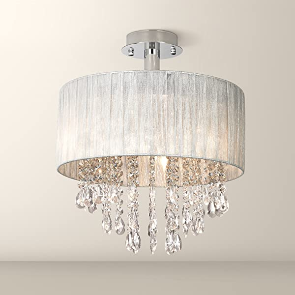Jolie Modern Ceiling Light Semi Flush Mount Fixture Chrome