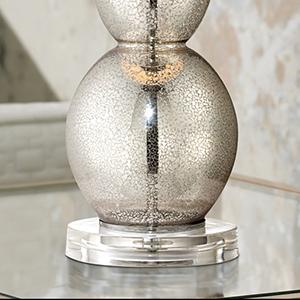 Mercury Glass Triple Gourd Table Lamp Amazon Com