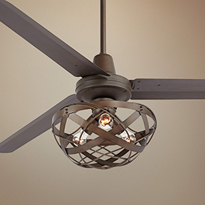 60 oil rubbed bronze metal ceiling fan amazon from the casa vieja brand this large ceiling fan is a great look for mid century modern or industrial themed home decor aloadofball Gallery