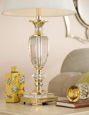 Complete The Look Of Your Traditional Space With This Crystal Table Lamp In  A Classic Urn Shape. The Lampu0027s Timeless Silhouette Is Accented By  Decorative ...