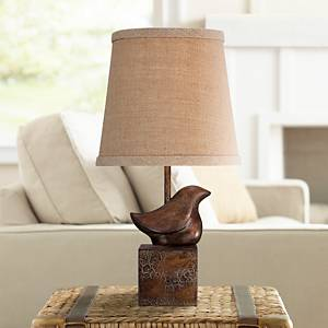 Captivating Add A Sculptural Element To Your Decor With This Small Accent Table Lamp,  Which Features The Delightful Profile Of A Bird. The Contemporary  Sculptural Bird ...