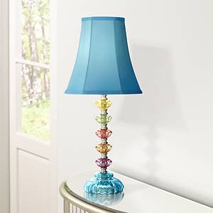 This Fun Table Lamp Is A Twist On Traditional Stacked Glass Designs
