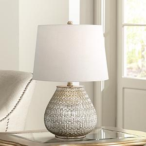 High Quality This Stunning Mercury Glass Table Lamp Will Instantly Transform Any Space.  The Mercury Glass Finish Process Has Been Around Since The 19th Century And  The ...