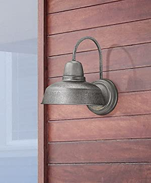 Urban barn 13 high galvanized steel outdoor wall light amazon add an industrial or classic country vibe to your homes exterior with this galvanized steel outdoor barn light this outdoor light will look right at home mozeypictures Choice Image