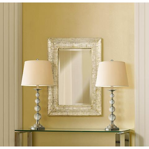 Quad Stacked Crystal Table Lamps Set of 2 - - Amazon.com