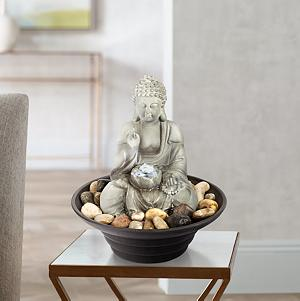 Unplug From The Day And Relax To The Sound Of Flowing Water With This  Soothing Buddha Tabletop Fountain.