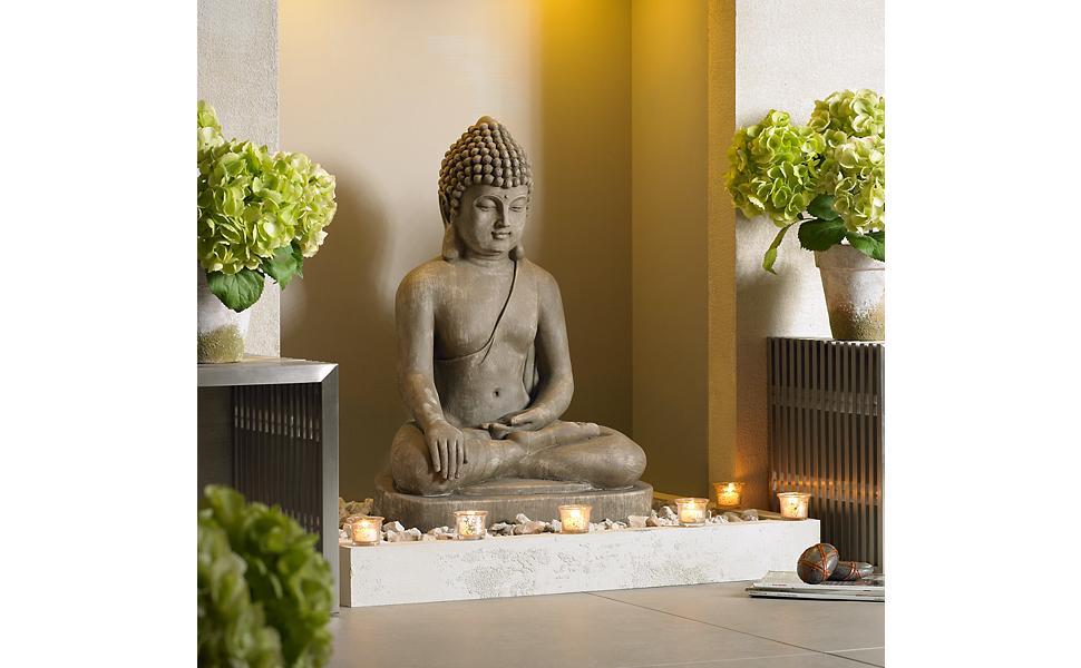 Amazon Com John Timberland Zen Buddha Outdoor Statue 29 1 2