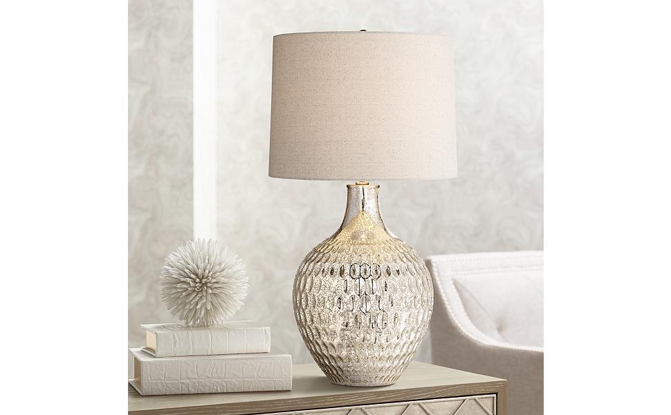 Waylon Mercury Glass Table Lamp Amazon Com