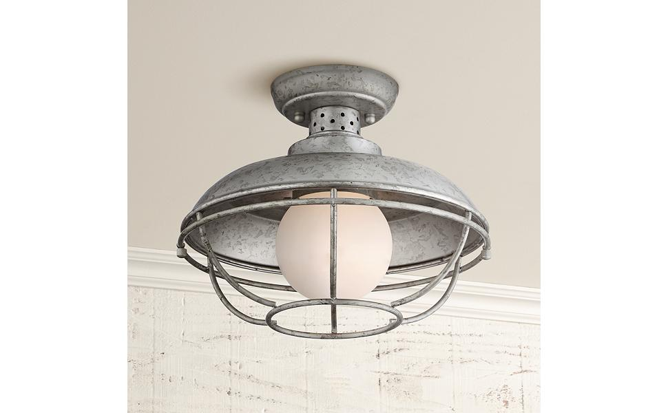 Franklin Park Rustic Farmhouse Outdoor Ceiling Light