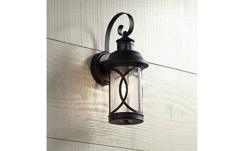 Capistrano Outdoor Wall Light Fixture Led Black Hanging 12