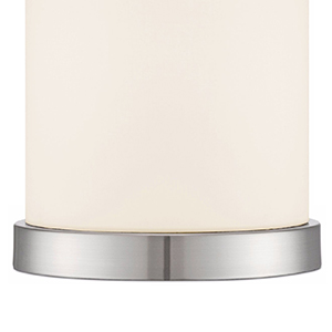 Modern Desk Table Lamp 10 1 2 Quot High Silver Metal White