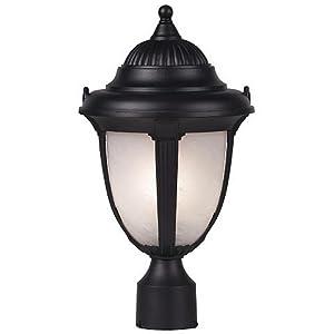 "Casa Sorrento 16 3/4"" High Black Post Mount Light"