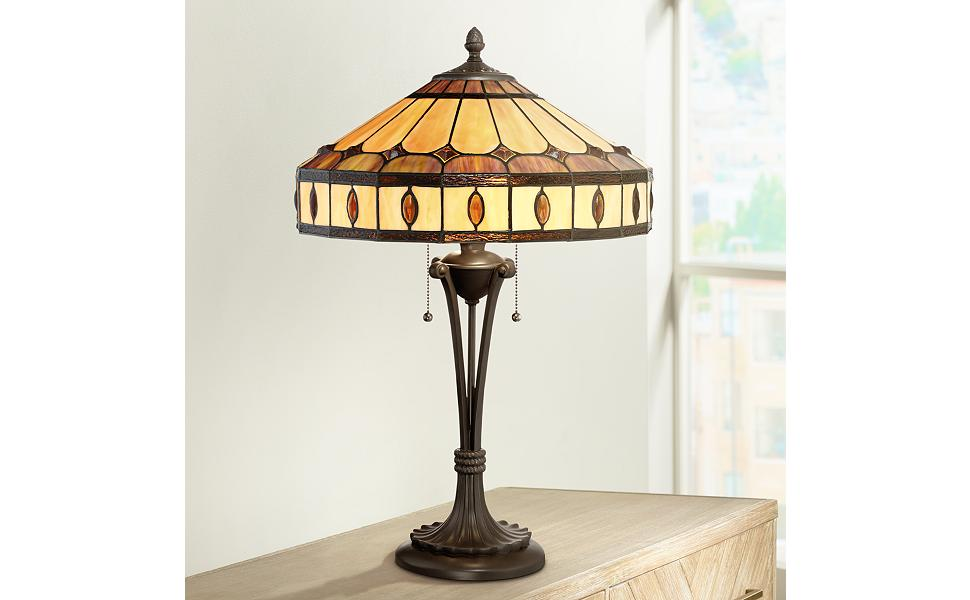 Genial Robert Louis Tiffany Nadine Mission Table Lamp
