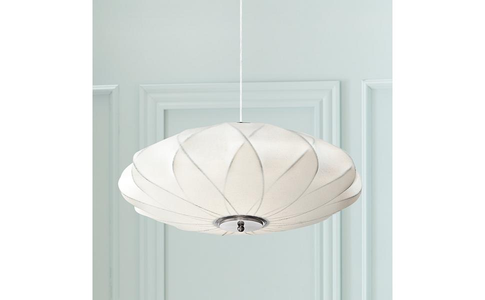 Stunning Ivory Flower Cut Out Pendant  Light Shade NEW