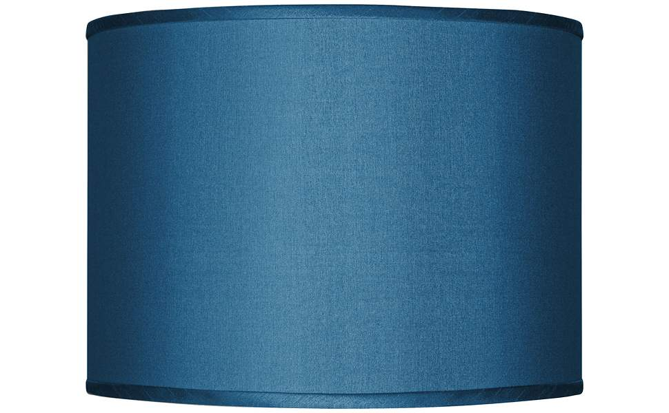 Blue Polyester Lamp Shade 13.5x13.5x10 (Spider)