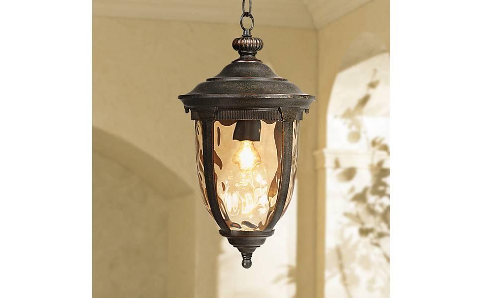 new style 4c97d f2cb7 Bellagio Rustic Outdoor Ceiling Light Bronze 18