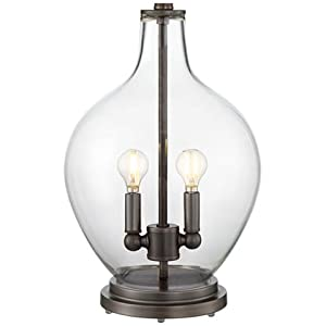 Becker Clear Glass Night Light Table Lamp