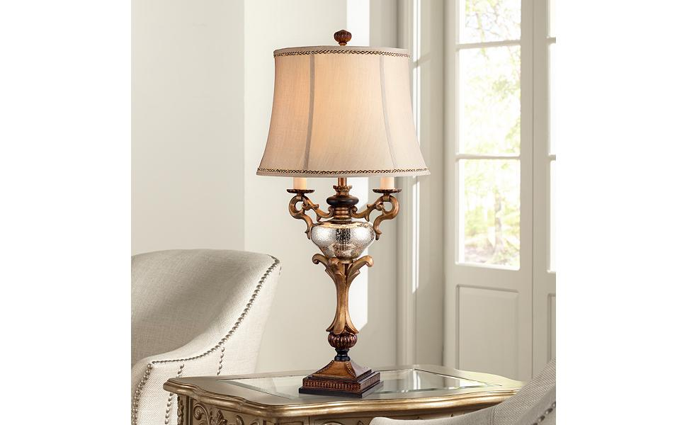Attirant Winifred Faux Twin Candelabra Table Lamp
