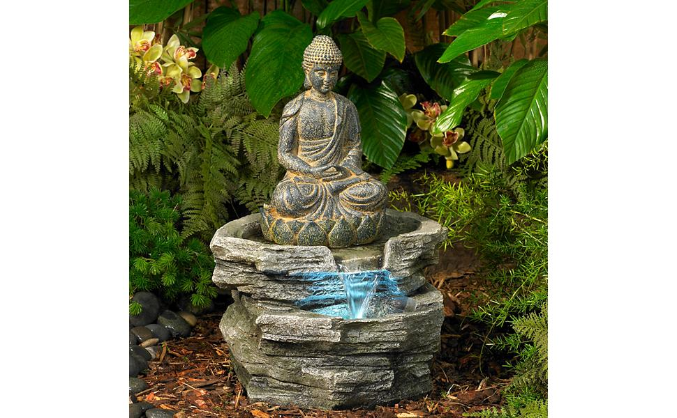 Amazon Com John Timberland Sitting Buddha Rustic Zen