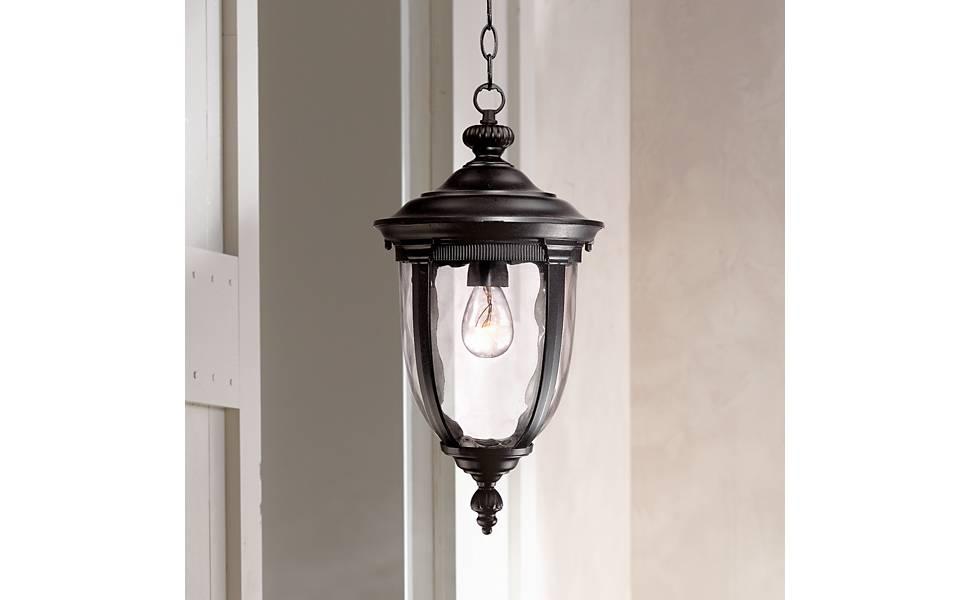 Bellagio 18 High Texturized Black Outdoor Hanging Light Pendant