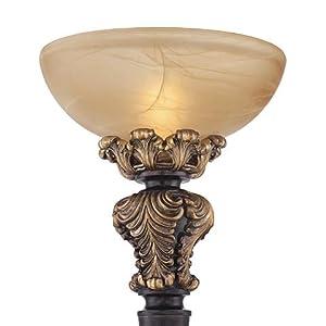 Rita Acanthus Leaf Torchiere Floor Lamp