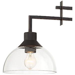 "Metro 32""W Bronze and Glass Kitchen Island Light Chandelier"