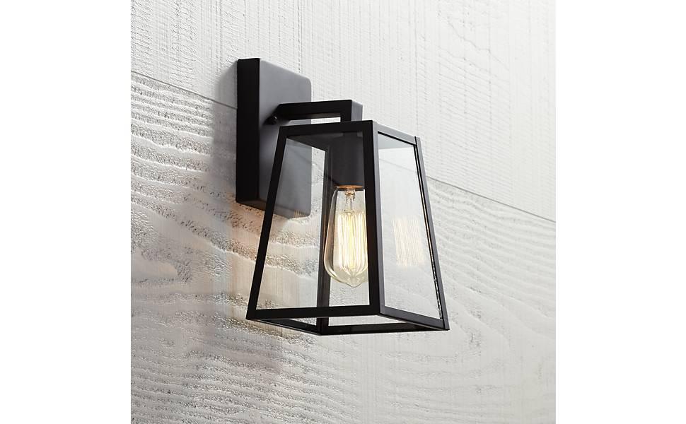 "Arrington 10 3/4"" High Mystic Black Outdoor Wall Light"