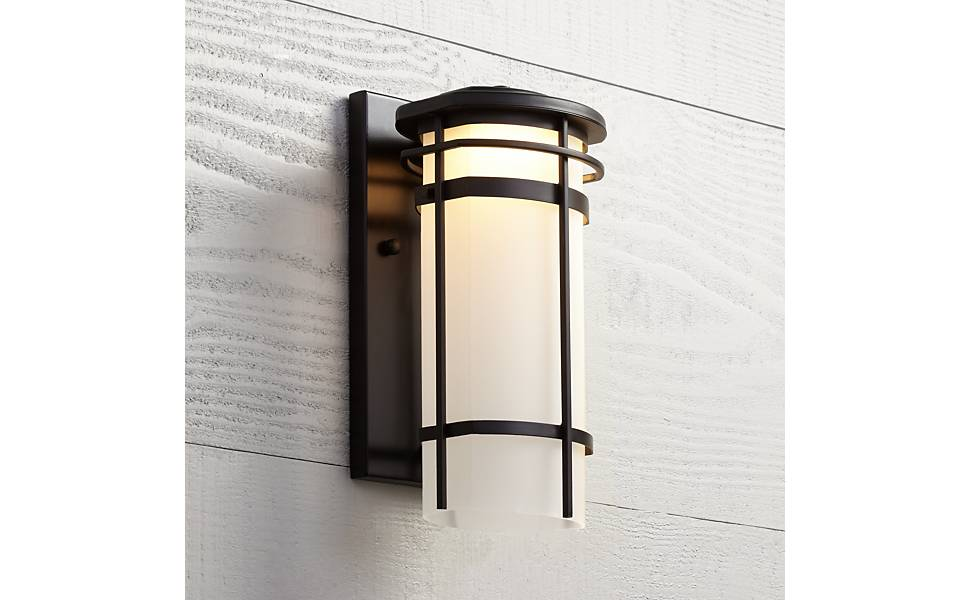 Possini Euro Clemson 13 High Bronze Led Outdoor Wall Light