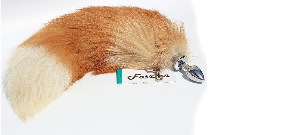6e318ed22 Amazon.com  Fosrion Anal Butt Plug with Real Fox Tail G-Spot ...