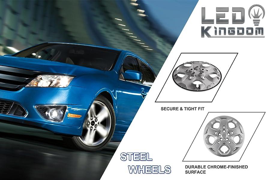 Amazon.com: LEDKINGDOMUS Ford Fusion Hubcaps, 4pcs Hub ...