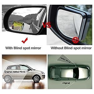 Amazon Com Audew 2 Pack Square Blind Spot Mirror 360℃ Abs