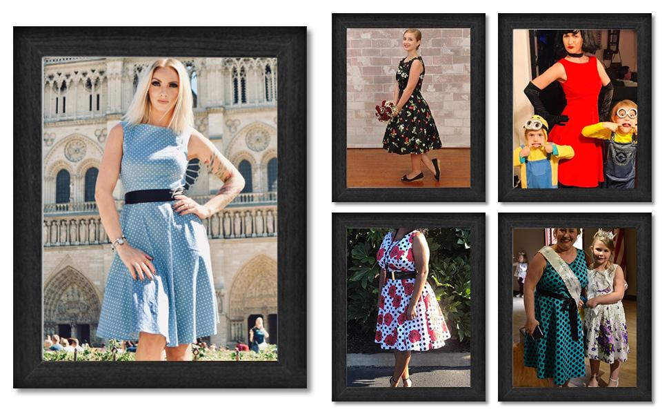 9afb9c51918 Amazon.com  Gardenwed Women s Audrey Hepburn Rockabilly Vintage ...