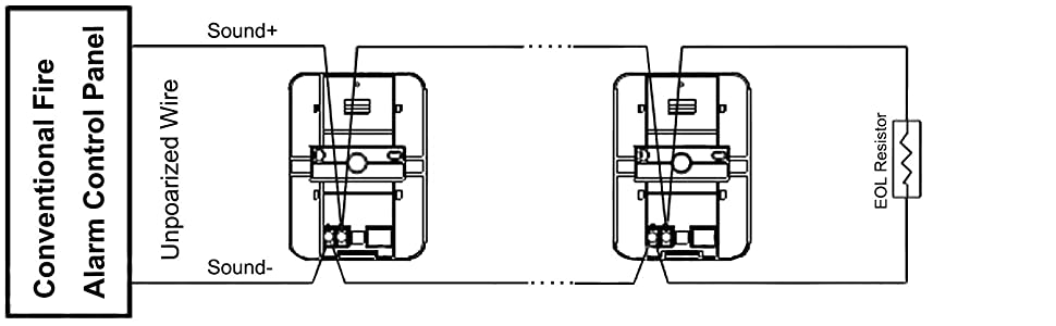 Amazon Com Uhppote Wired 12 24vdc Sound And Light Fire Alarm Warning Strobe Siren Horn Sound Alert Safety System Sensor Home Kitchen