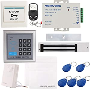 Electromagnetic Lock with UL-Listed Certified UHPPOTE Full Complete 125KHz RFID Card Outswinging Door Access Control Kit Including 600lbs Force Electric Magnetic Lock