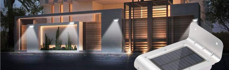 wall lights solar sensor silver 1130