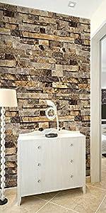 Qihang Three Dimensional Wallpaper Brick Wall Wallpaper 3d