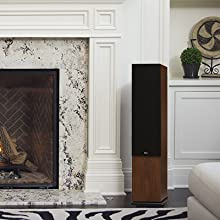 KLH Audio Quincy Home Speaker by Fireplace