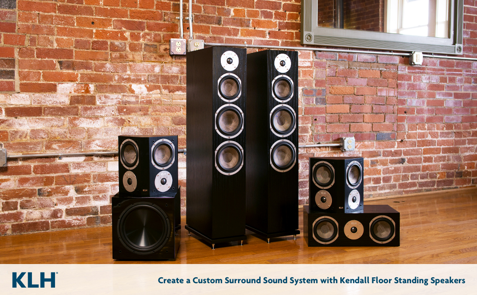 klh audio systems, klh audio systems speakers, floor standing speaker system, floor standing system
