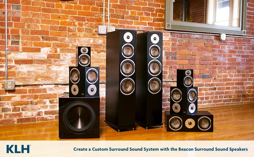 KLH Audio Surround Sounds Speaker Systems