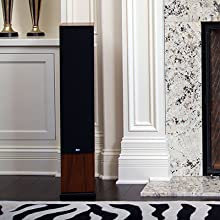 KLH Cambridge Home Speaker by Fireplace