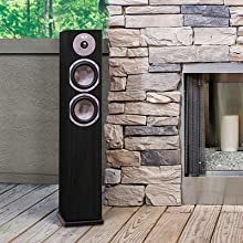 KLH Cambridge Home Tower Speaker by Fireplace