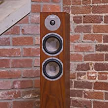 KLH Cambridge Speaker with Grille Removed to Show Mid and Bass Drivers